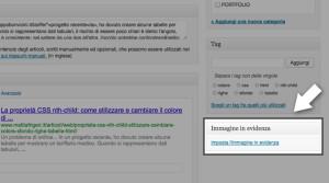 Impostare immagine in evidenza su WordPress