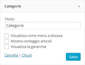 Come rinominare le categorie su WordPress